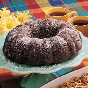 Fluted Chocolate Cake