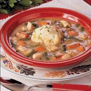 Turkey Stew with Dumplings