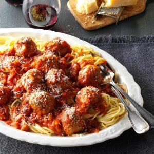 Slow Cooker Spaghetti & Meatballs