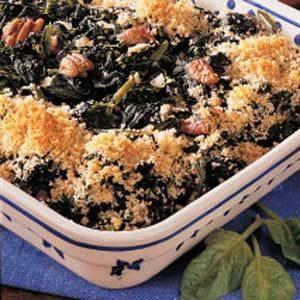 Spinach Pecan Bake