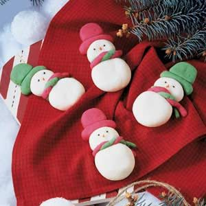 Snowmen Butter Cookies