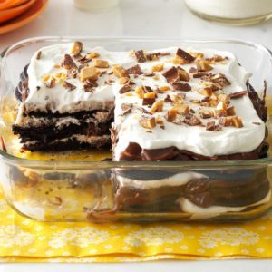 Double-Chocolate Toffee Icebox Cake