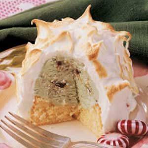 Minty Baked Alaska