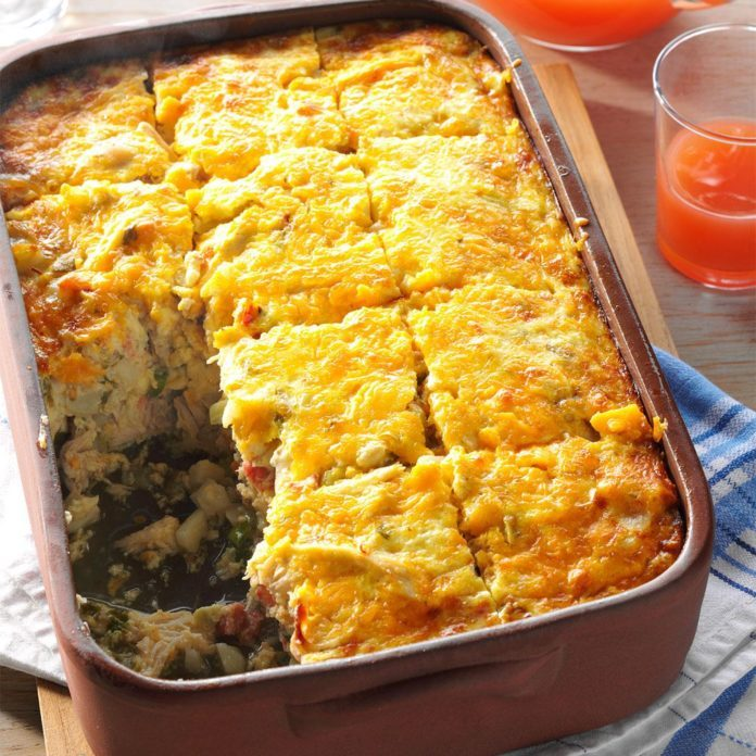 Day 19: Hash Brown & Chicken Brunch Casserole