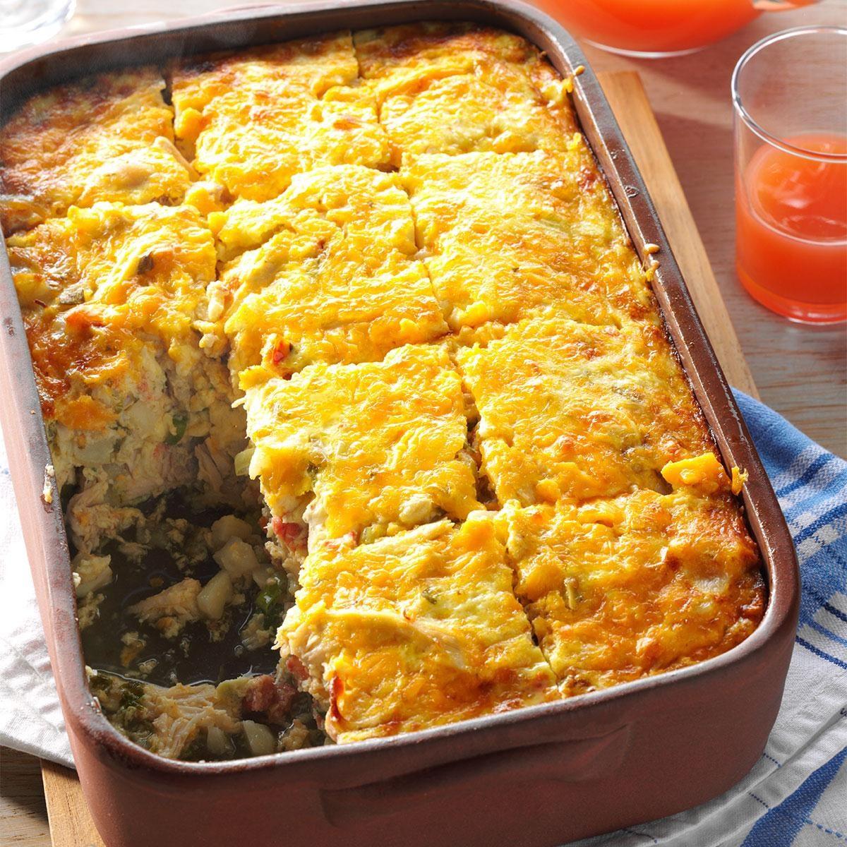 Hash Brown & Chicken Brunch Casserole Recipe