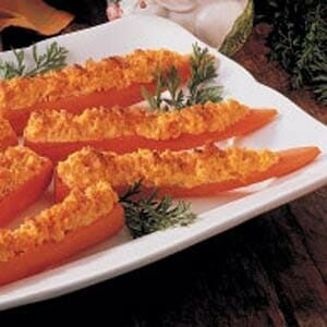 Baked Stuffed Carrots