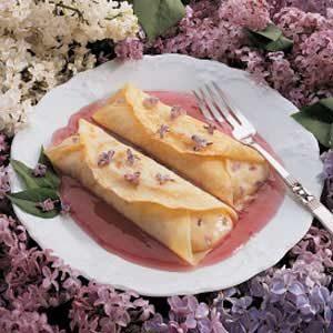Lilac Cream Crepes