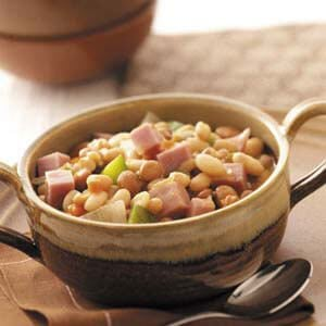 Hearty Bean Soup with Ham