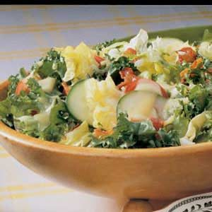 Salad with Egg Dressing
