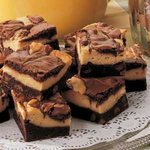 layered peanut butter brownies recipe taste of home