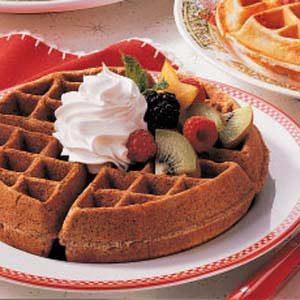 Chocolaty Dessert Waffles