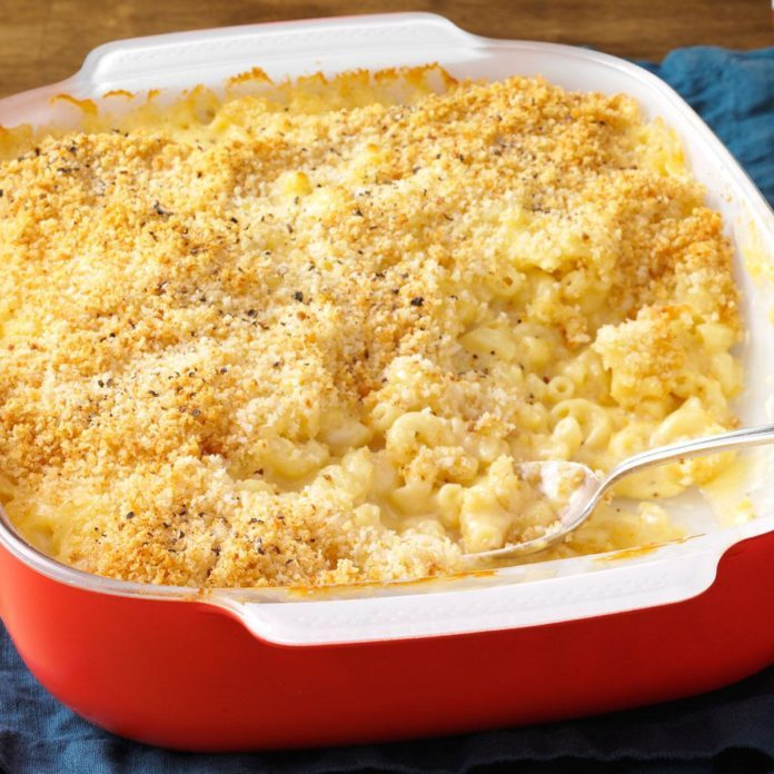 Wisconsin: Baked Three-Cheese Macaroni