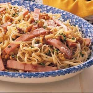 Walnut Ham Linguine