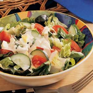 Salad with Creamy Homemade Dressing