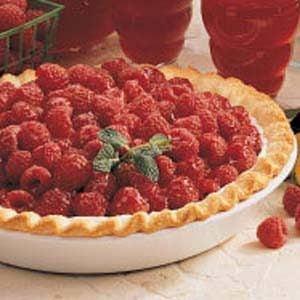 Glazed Raspberry Pie