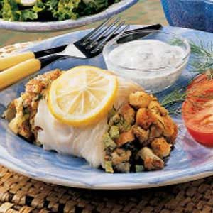 Cod with Fennel Stuffing