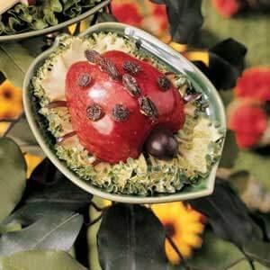 Apple-Raisin Ladybug