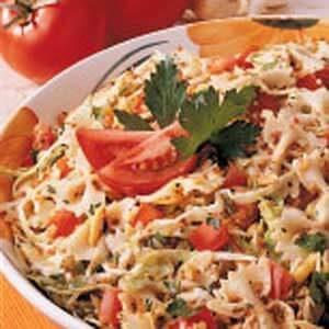Cabbage-Tomato Pasta Toss