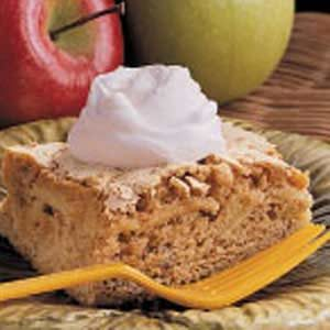 Apple Walnut Snack Cake
