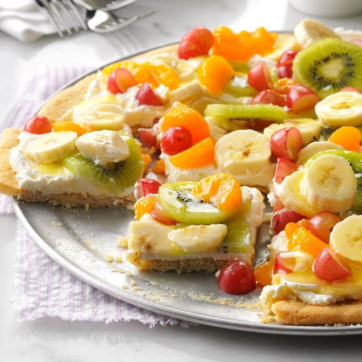 Fruit Pizza with Mandarin Oranges