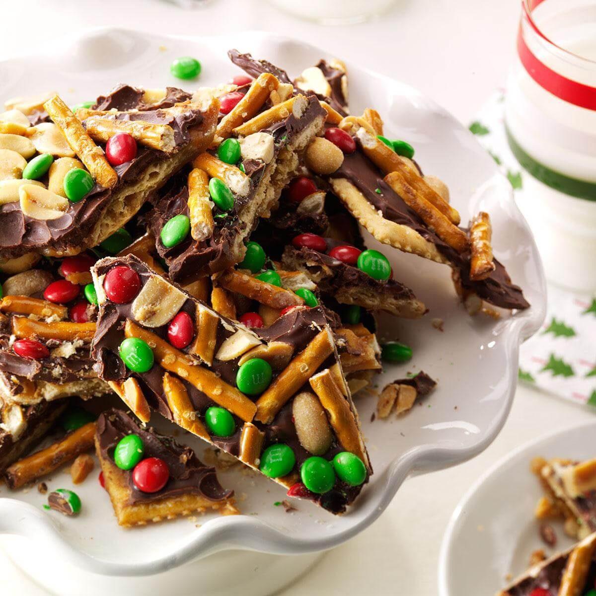Chocolate Pretzel Logs Dunmore Candy Kitchen: Chocolate, Peanut & Pretzel Toffee Crisps Recipe