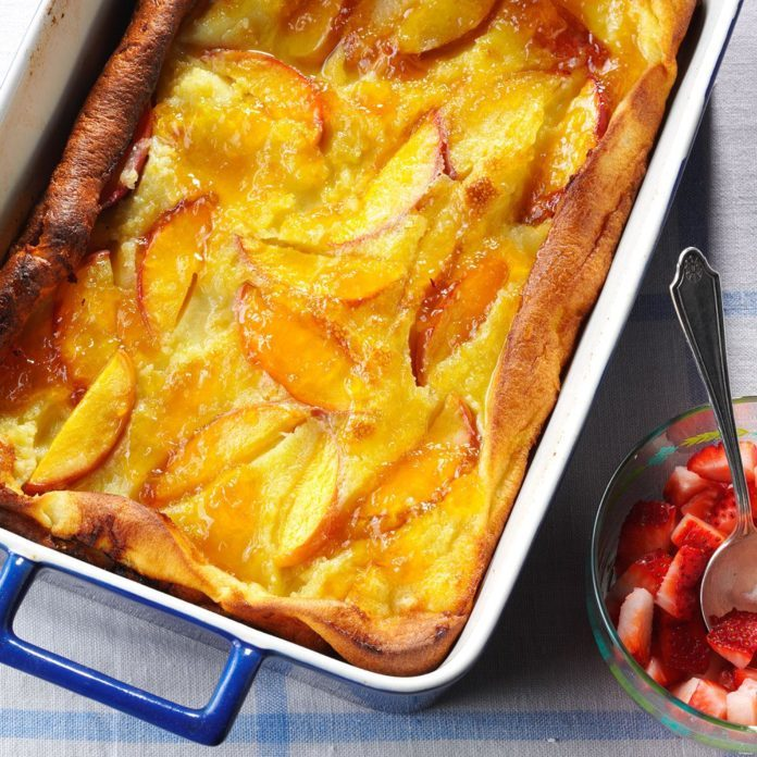 Peachy Dutch Pancake