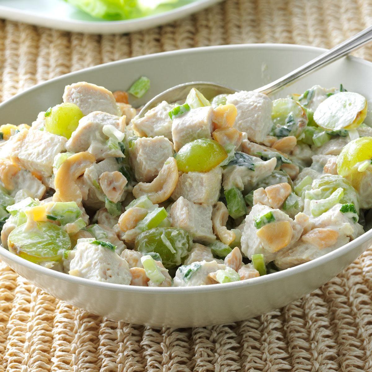 Turkey Salad With Grapes & Cashews Recipe