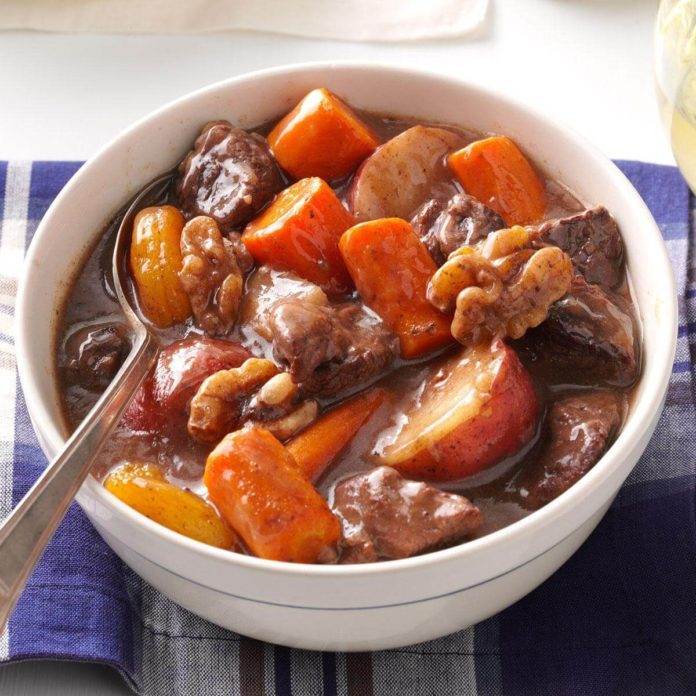 A bowl of Autumn Slow-Cooked Beef Stew