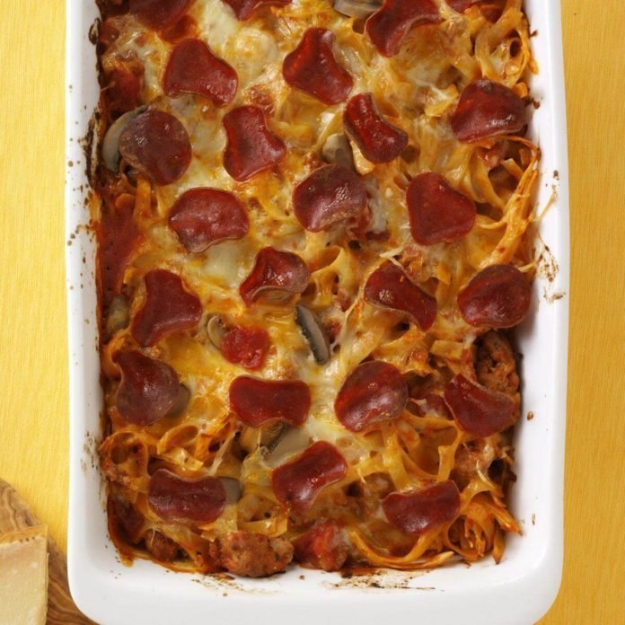 Day 9: Pepperoni Pizza Casserole