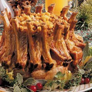 Corn-Stuffed Crown Roast