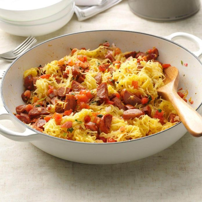 Day 12: Spaghetti Squash & Sausage Easy Meal