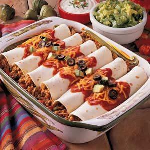 Spanish Rice Enchiladas