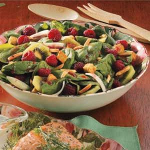 Spinach Raspberry Salad