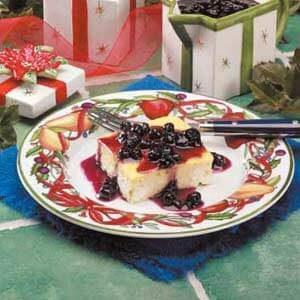 Blueberry Blintz Souffle