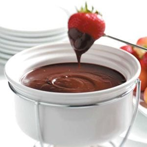 Chocolate-Raspberry Fondue