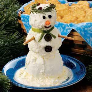 Snowman Cheese Spread