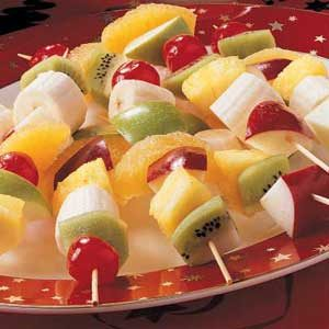 Christmas Fruit Kabobs