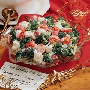 Salads For Christmas.Christmas Crunch Salad