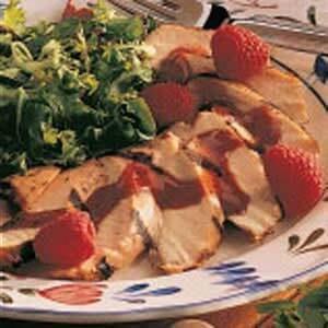 Chicken with Raspberry Sauce
