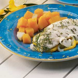 Gingered Squash and Pears
