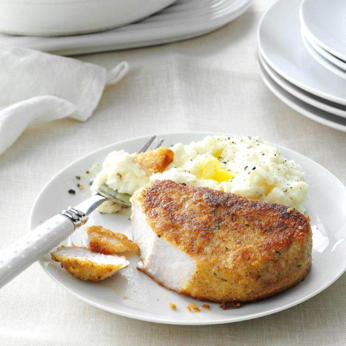 Parmesan-Breaded Pork Chops
