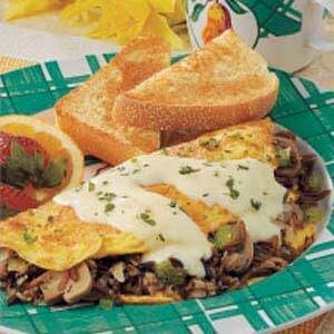 Wild Rice Mushroom Omelet