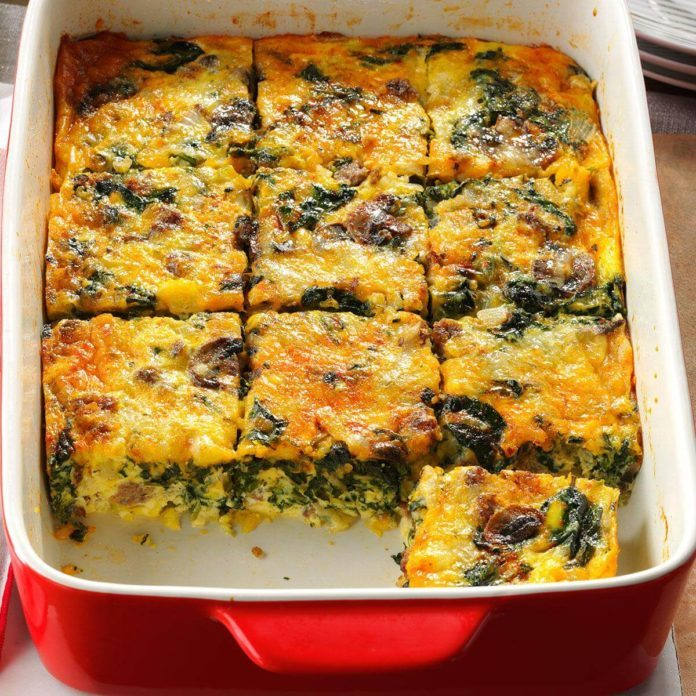 West Virginia: Eggs Florentine Casserole