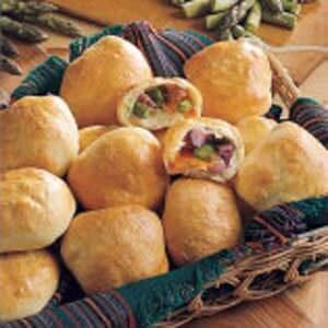 Asparagus Ham & Cheese Rolls