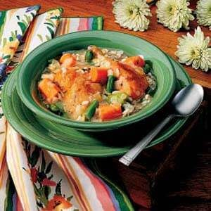 Chicken and Barley Boiled Dinner