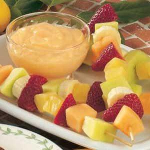 Fruit Kabobs with Citrus Dip