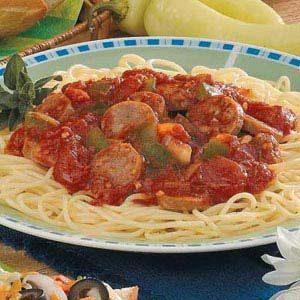 Italian Sausage Spaghetti Recipe | Taste of Home