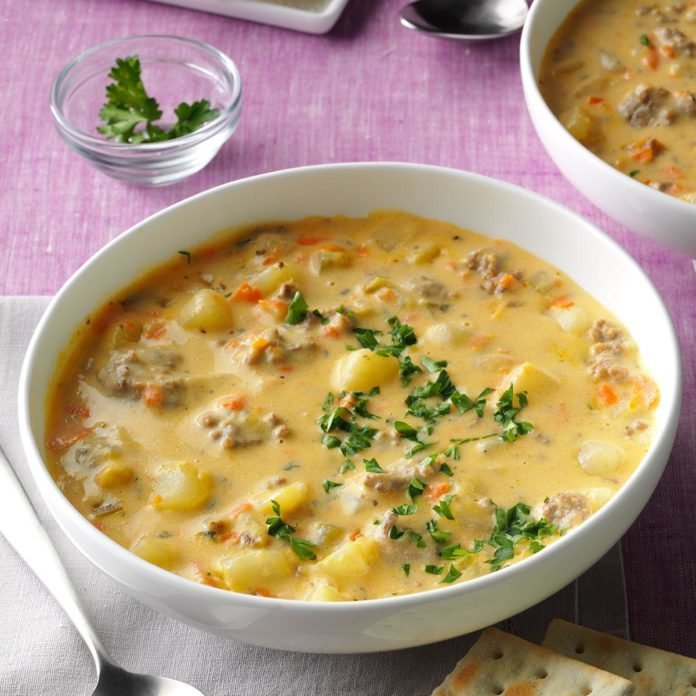 Big Batch Cheeseburger Soup