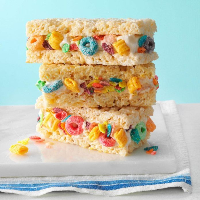 Cereal & Milk Ice Cream Sandwiches
