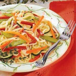 Colorful Linguine Salad